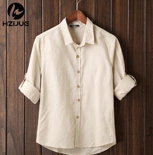 5XL Men Tops 2015 Summer Chinese Style Men s Shirts Linen Casual Mandrin Collar Long Sleeve