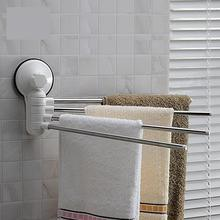 SQ1987 Wall Mounted  Suction Cup Rotatable Stainless Steel Towel Bar Towel Rack For Bathroom Home Decor(China (Mainland))
