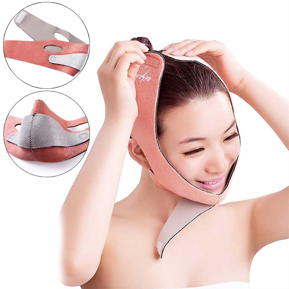 New Facial Slimming Bandage Skin Care Belt Shape And Lift Reduce Double Chin Face Mask(China (Mainland))