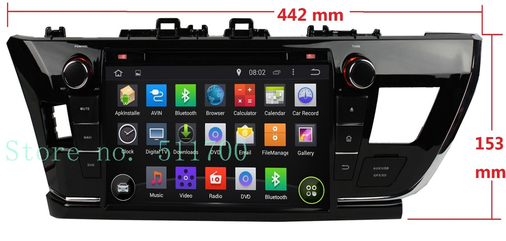 9 Inch 2 Din Indash Android 4.4 OS Car GPS Navigation For Toyota Corolla(2014 2015) Left Driving,Radio,DVD Player,Stereo<br><br>Aliexpress