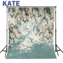 photographic background White flowers bloom in spring newborn photography background S-102