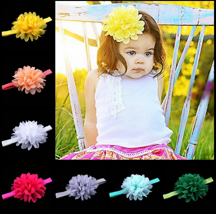 3pcs new high quality handmade Childrens hair accessories 16color 13.8Inch Baby chiffon hair bandОдежда и ак�е��уары<br><br><br>Aliexpress