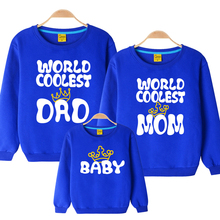 2016 next winter boys girls Letter family sweatshirts father son mother daughter clothing cotton sport  mother son outfits(China (Mainland))