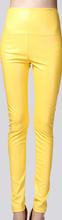 24 color S-XL 2016 autumn and winter   plus velvet color PU leather leggings leather pants   female trousers # 8872(China (Mainland))