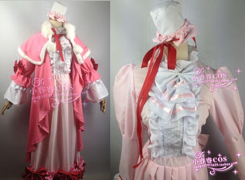 Victorique de Blois pink luxury gown GOSICK cosplay lolita costume dress cloak set(China (Mainland))