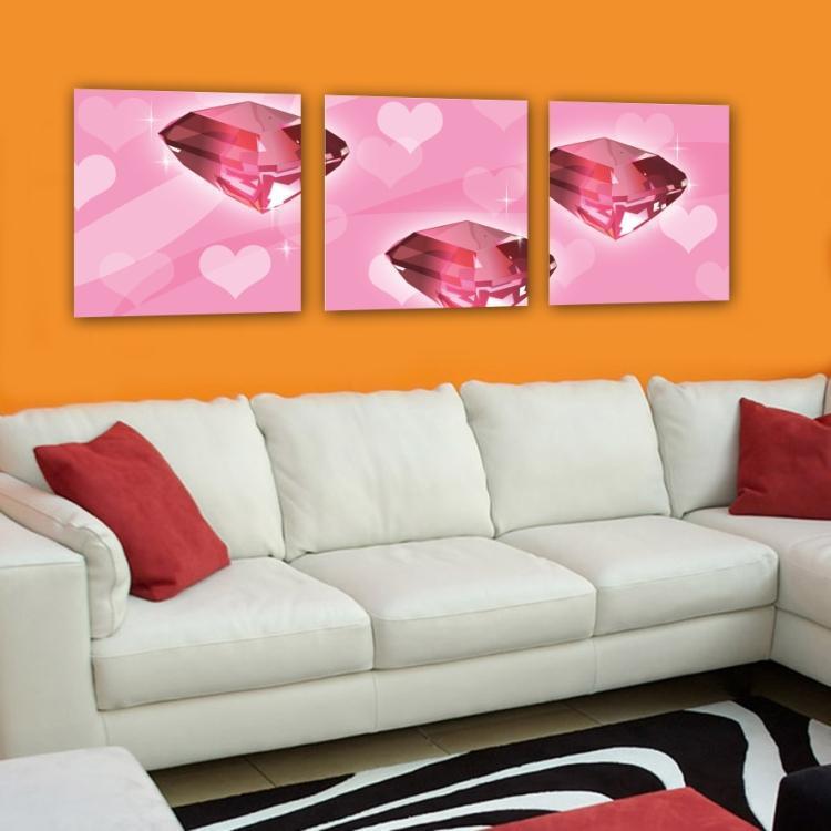 3Panels Hot Modern Abstract Painting on canvas LivingCharm Wall Hanging Art 59 (No Frame)(China (Mainland))