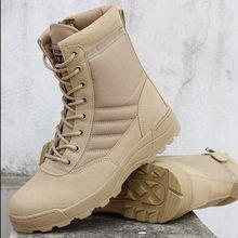 ผู้ชายยุทธวิธียุทธวิธีทหารรองเท้าบุรุษทำงานความปลอดภัยรองเท้า Zapatos De Mujer กองทัพ Boot Zapatos ข้อเท้า ...(China)