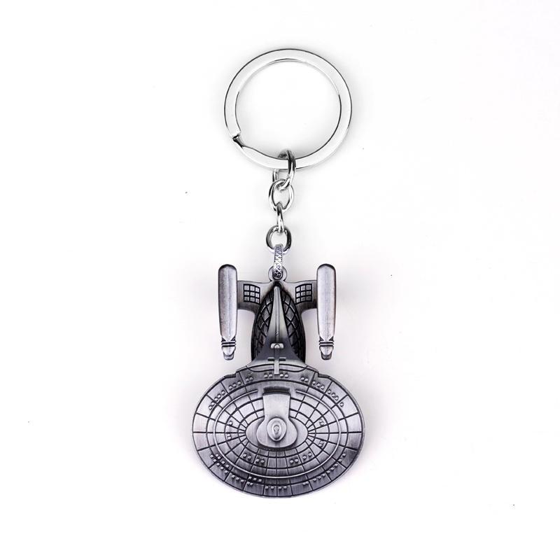 Star Trek Spacecraft U.S.S. Enterprise Air Plane Charm Keychain Key Ring Pendant Film Collection free shipping(China (Mainland))
