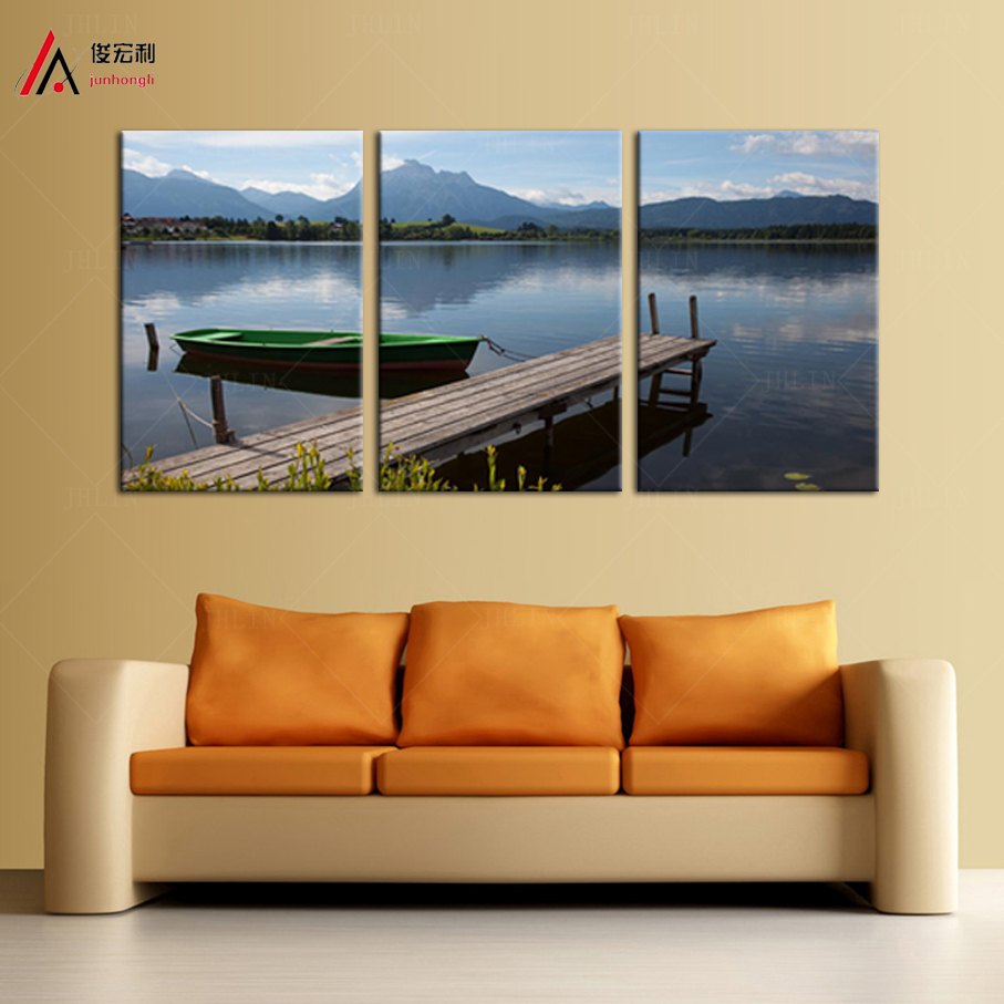 Online buy wholesale boat dock from china boat dock for Canvas mural painting