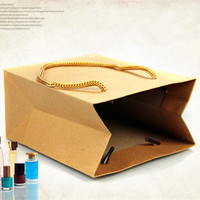 Size 30*40+10cm Gift Paper shopping Bags Brown Color Kraft Promotion Retail Bag For Jewelry Bags Free Shipping 10Pcs/Lot