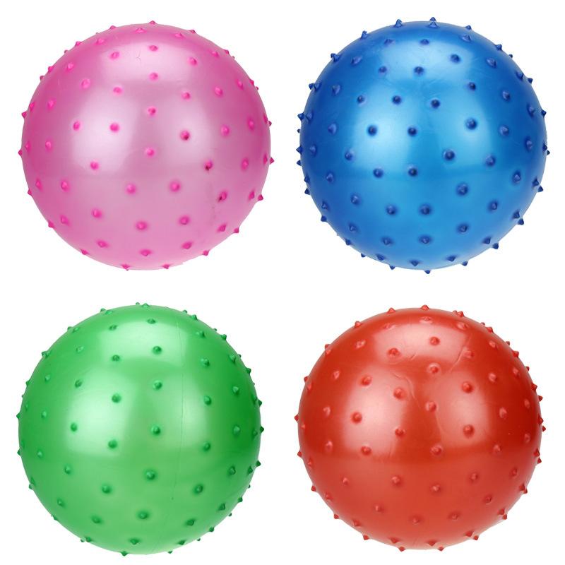 2 PCS 16-21cm Kids Baby Massage ball Inflatable ball Rubber ball Basketball Soccer BB balloons Football bouncing balls(China (Mainland))