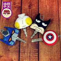 2015 Hot Sales New Arrival Christmas Gift American Captain Croppings Handmade DIY Felt Fabric Material Kit For Key Cover 4pc/set