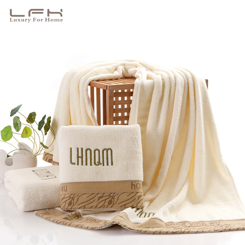 Fashion embroidery leopard cotton household hotel towel 33X74CM absorbent soft towel gift custom couple towel(China (Mainland))
