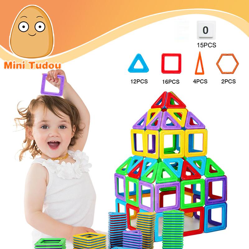 Minitudou 45PCS Magformers Magnetic Blocks Train Space Marine Brick Hobby Imaginext Educational Kids Toys Building Block Sets(China (Mainland))