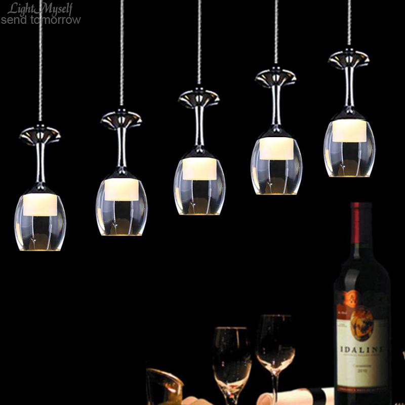 LightMyself Modern Romantic LED Chandelier Wineglass 5 Lights Acrylic for Dining-room Living Room(China (Mainland))