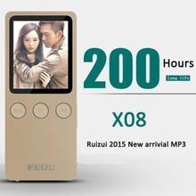 "Speaker 1.8"" 8GB MP4 Player Slim Video Radio FM Player For 64GB Micro SD TF Card Music play times 200 hours RUIZU X08(China (Mainland))"