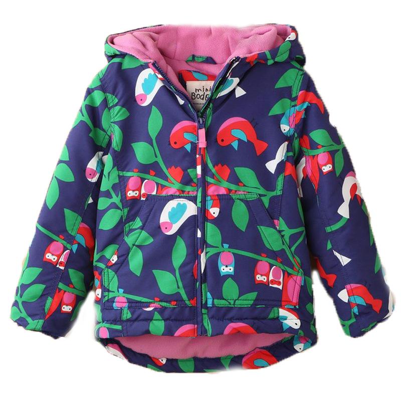 2015 New Baby Girls Winter Coat Wadded Jacket For Mini Boden Cotton-Padded Owl Waterproof Windproof Outdoor Kid Jackets Hot Sale<br><br>Aliexpress