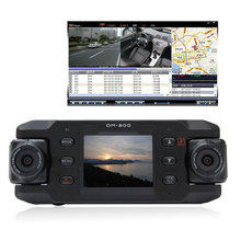 Free Shipping!Dual Lens Car Camera Two Lens Vehicle DVR Dash Recorder GPS G-sensor CA365 X8000(China (Mainland))