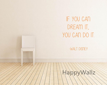 Buy Motivational Quote Wall Sticker Can Dream Can DIY Inspirational Lettering Quote Custom Color Wall Decal Q44 for $9.99 in AliExpress store