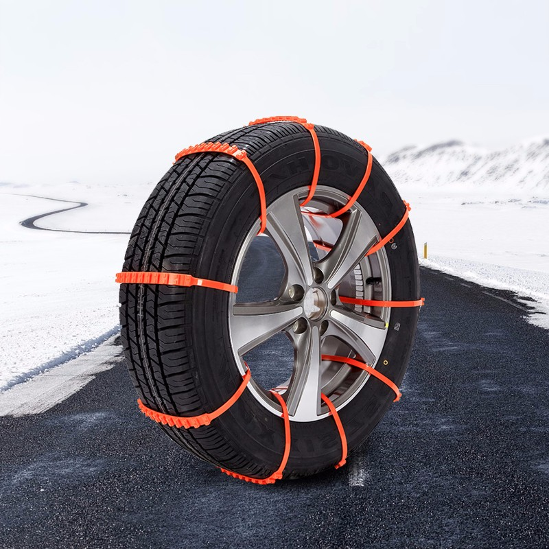 10pcs Reusable Auto Car Universal Fit Snow Safety Anti-skid Tire Tyer Chains Thickened Tendons Tire Chains Anti-skid Chains
