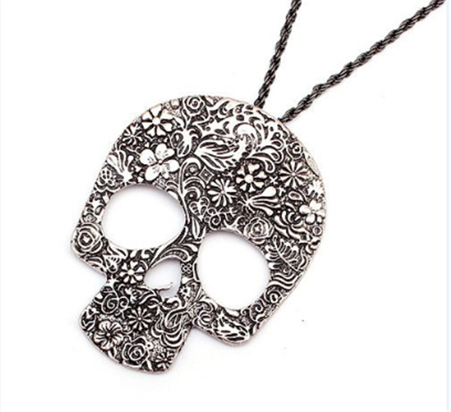 Punk Style Jewelry Retro Fashion Personality Skull Pattern Carved Pendant Alloy New Necklaces & Pendants - Kiki Shop store