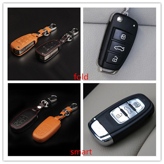 New Car Styling Key Cover For Audi A1/A3/A4L/A6L/A5/A7/A8Q3/Q5/S5/S6 Etc Leather With Buckle High quality