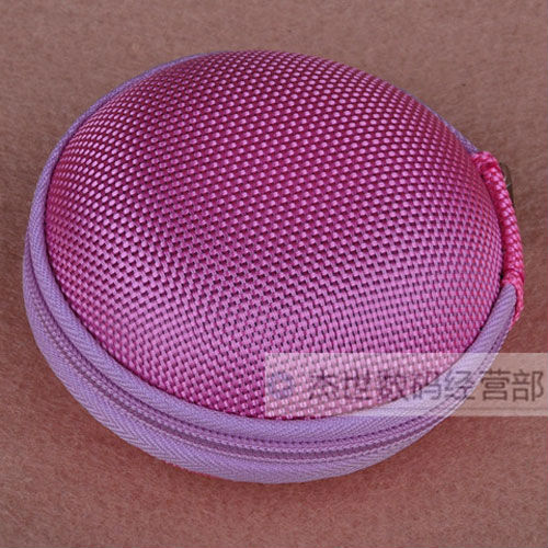 2PCS Pink Retail Free shipping Factory Price protect storage bag / case for earphones headphones(China (Mainland))