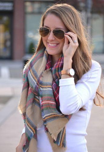 Зима 2016 шотландка шарф плед шарфа платок шеи украл теплая плед проверено пашмины больших площадей горячая распродажа