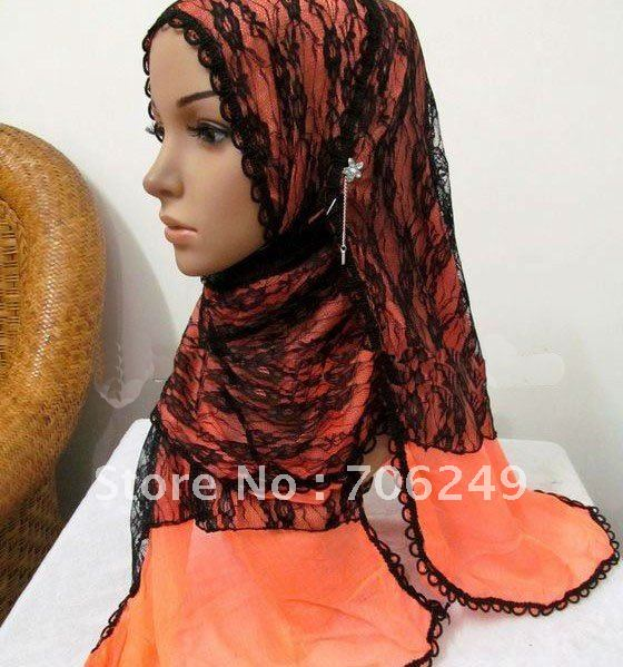 ,patchwork shawl,lace scarf,flower shawl,women,s scarf,muslim hijab,2012 new design,45*180cm,fashion ladies shawl - ELLEN FASHION ACCESSORIES store
