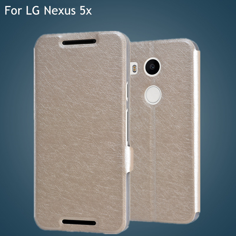 Silk series Flip Leather Case for google LG Nexus 5X case Flip Leather Case for google LG Nexus 5X case with free shipping