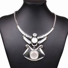 2014 New Fashion Alloying Chunky Pendant Link Chain Statement Necklace Women Club Trendy Jewlery Accessories Gift