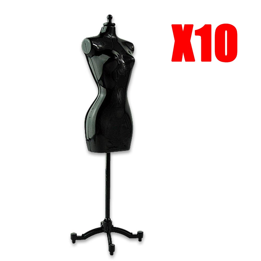 Cheap Promotion 10pcs/lot mini barbie dolls stand barbie dress form clothing clothes gown display mannequin model stand ESA381(China (Mainland))