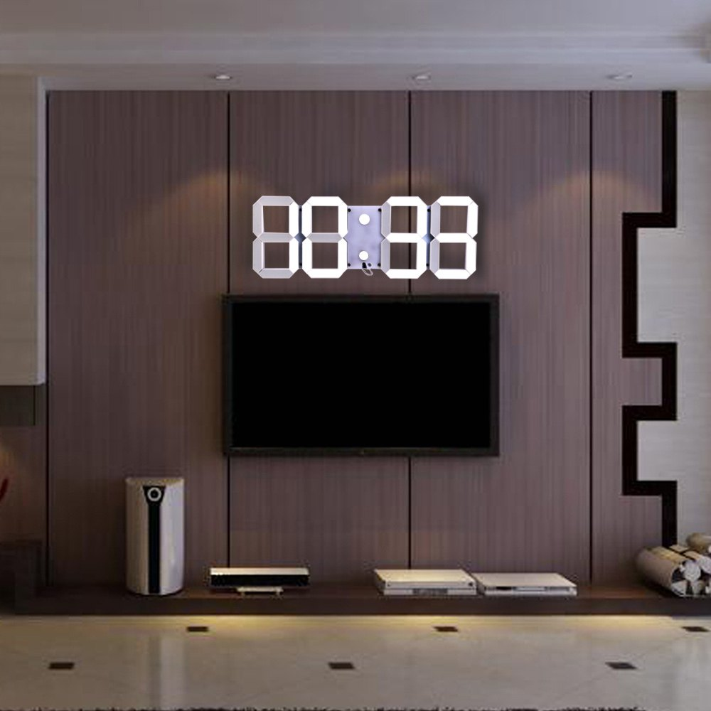 online kaufen gro handel led digital wanduhr aus china led digital wanduhr gro h ndler. Black Bedroom Furniture Sets. Home Design Ideas
