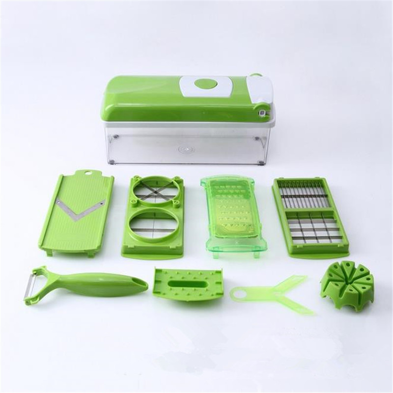 Multi-purpose Fruit & Vegetable Shredder Tools Kitchen Accessories Cooking Tools Plastic Green 12 Pieces Tools Kitchen Gadget(China (Mainland))