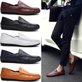 men casual leather shoes oxford shoes high quality genuine leather brown loafer for men luxury brand