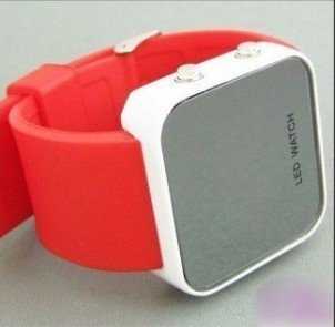wholesale! NEW Boy Girls ODM jelly red Watch, ODM Mirror LED watches Digital watches FREE shipping