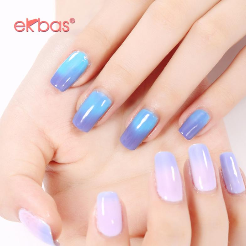 50% Off Ekbas Nail Gel 16ml Nail Art LED UV Termo Change Temperature ...
