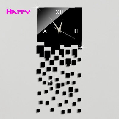 3D Household Mirror Wall Clock Home Decoration DIY acrylic material Crystal Stickers watch clocks Best Gift - YIWU MIRROR CRAFT FACTORY store