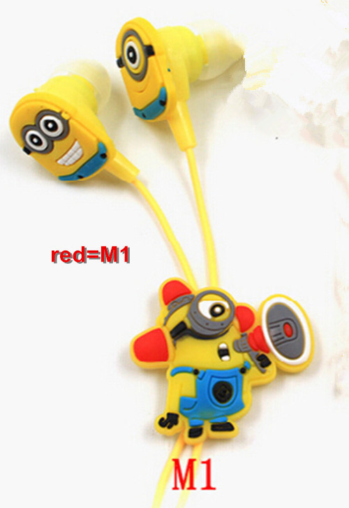 Hot Sale Clear Voice Cartoon In ear Wired 3 5mm Earphone Headphone Despicable Me Minions Model