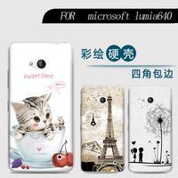 Phone case For Nokia Microsoft Lumia 640 Cute Cartoon High Quality Painted PC Hard Case Skin Back Cover Shell