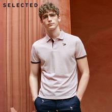Мужская рубашка-поло с короткими рукавами и вышивкой с отложным воротником | 419206510(China)