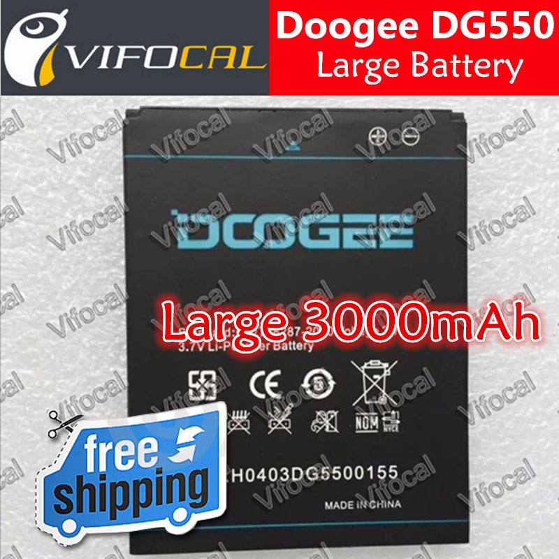 Гаджет  In Stock 100% Original 3000Mah Large Battery For Doogee DG550 MTK6592 1280*720 Smart Mobile Phone + Free Shipping + In Stock None Бытовая электроника