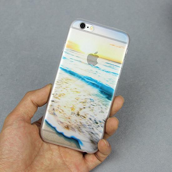 Design Transparent Ocean Sandy beach Foam Sunlight Case iPhone 5 5S SE 6 6S Plus 4.7 5.5 art print Hard Back Cover - MISSCASE Store store