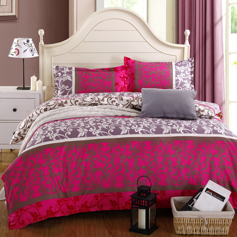Home textile,Reactive Print 3/4Pcs 3D bedding sets luxury Full/Queen/King Size Bed Quilt/Doona/Duvet Cover Pillowcases Set New(China (Mainland))
