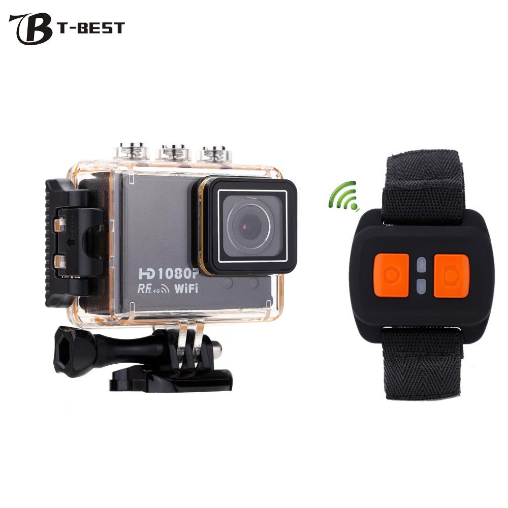 AT200 Mini WiFi Action Camera 30M Waterproof 1080P Diving Sport DV Wide Angle Lens Video Camcorder DVR with Remote Control Watch(China (Mainland))