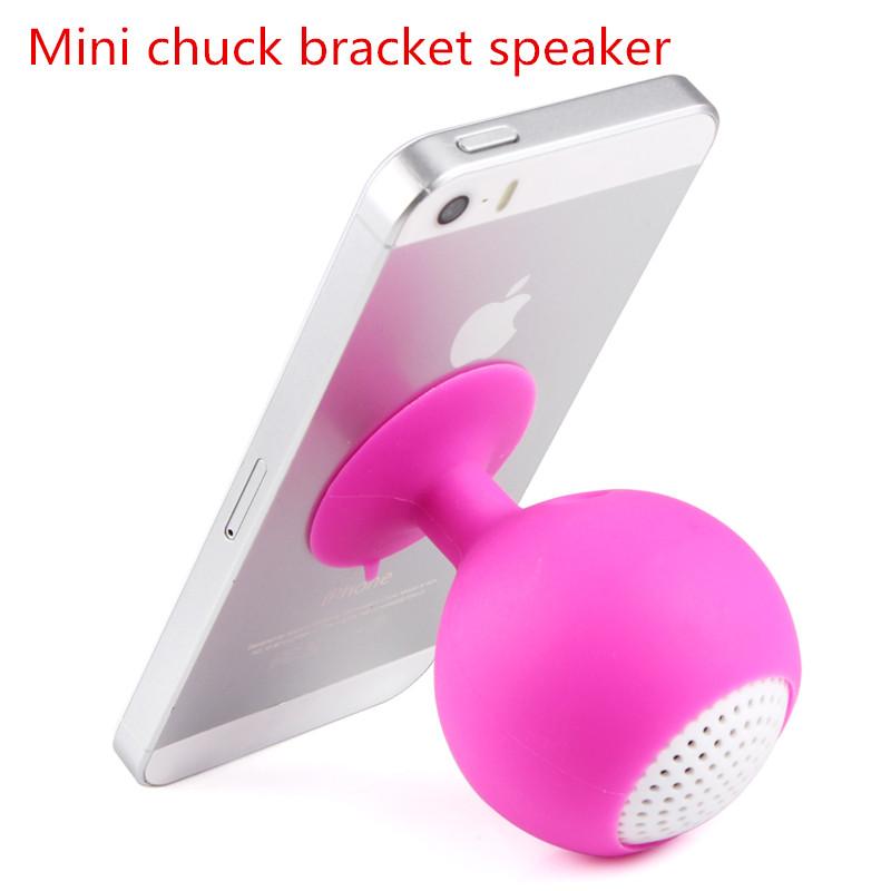 mini Stent speaker Mini chuck speaker audio output device portable chuck bracket horn lovely personality(China (Mainland))