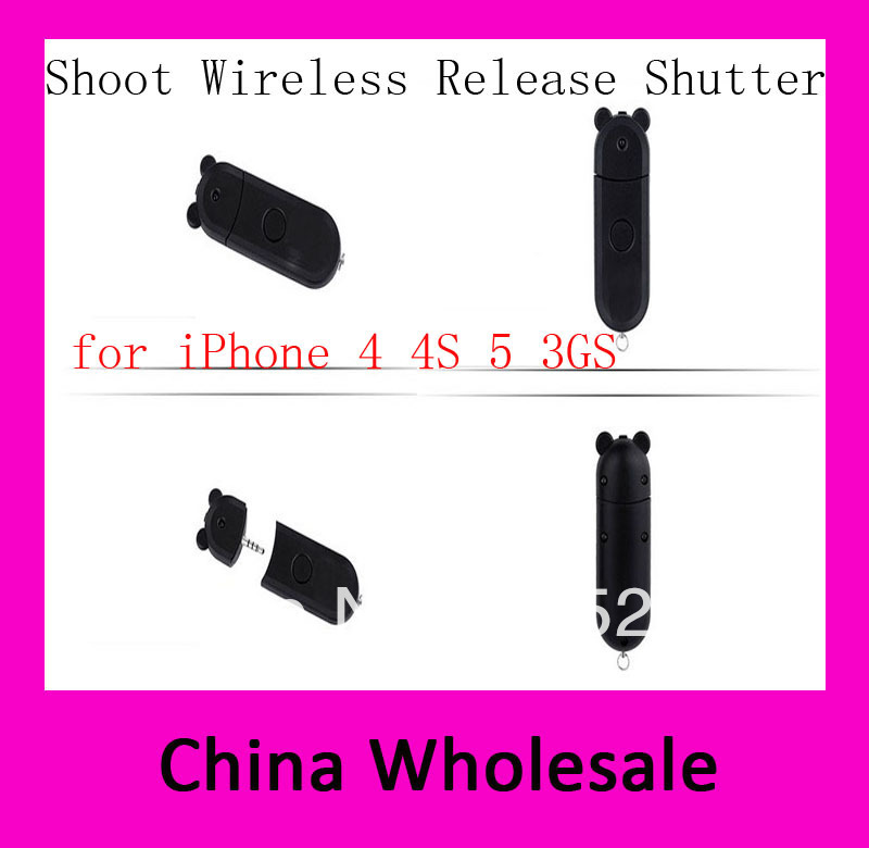 High quality Wireless photo/ Shooting Remote control Camera Shutter Controller Release for iPhone/for iPod Touch5/ for New iPad(China (Mainland))