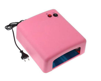 36W Pink Nail Art UV Gel Curing Lamp Dryer Light UV lamp with 4pcs 365nm UV Bulb