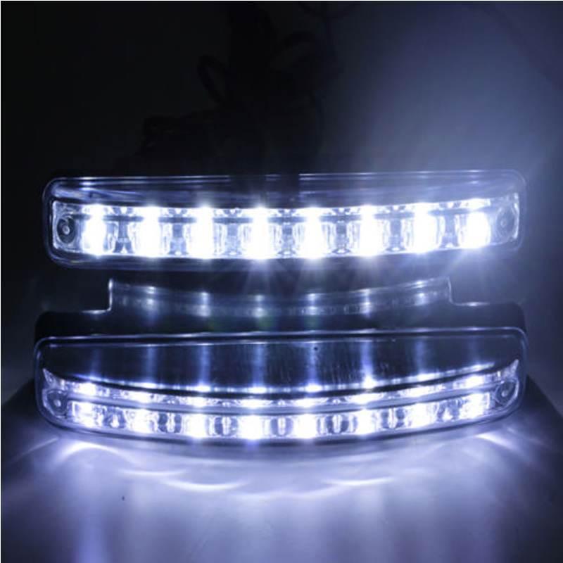 1pc 8 LED Super Bright Car DRL Daytime Running Light Daylight Bulb Head Lamp(China (Mainland))