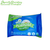 Sweet Carefor 20pcs/bag Hand And Mouth Wet Tissues Baby Adult Care Cleaning Wet Wipes Natural Formula Moisturizing Gentle